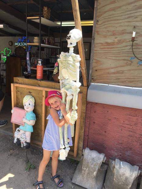 Skeleton ahead! Also d'awww