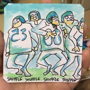 Rushing Heros shuffle dance