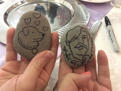 Our Memory Stones for the Bride & Groom