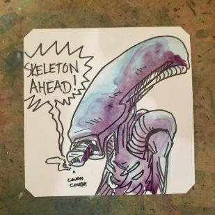 LordBBH Aliens 3 (Smoking with Skeleton ahead)