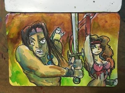 Macaw45 Warrior Blade