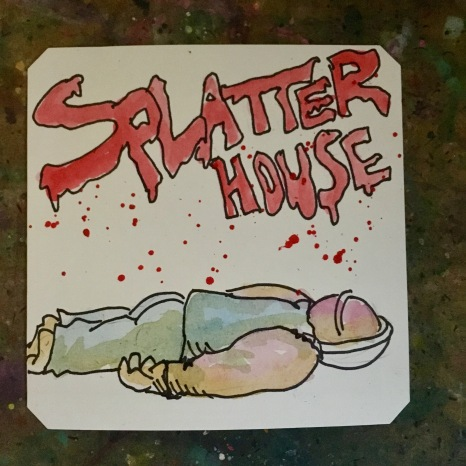 Splatter House arcade @owlnonymous