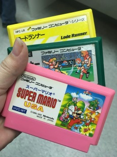 Famicom carts are cute :3