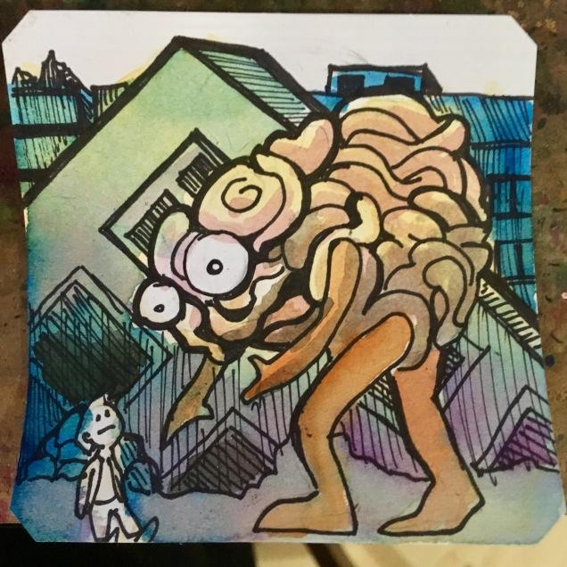 Walking Guts Monsters trashing the city