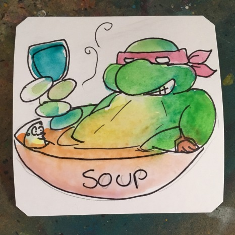 Teenaged Mutant Ninja Turtle Soup @Macaw45