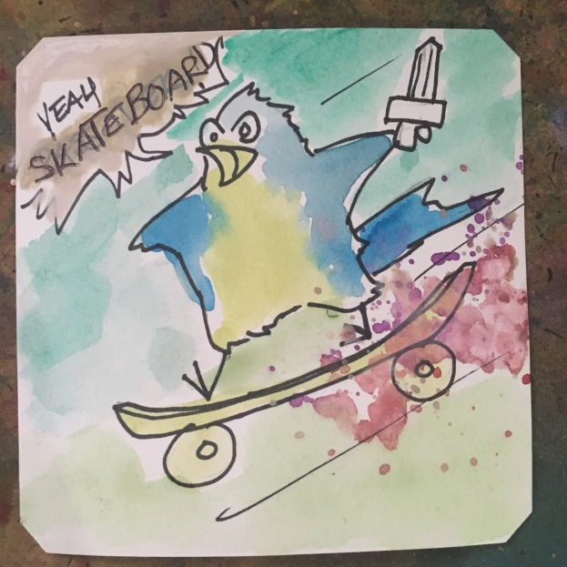 The Skateboard Kid on DOS @Macaw45