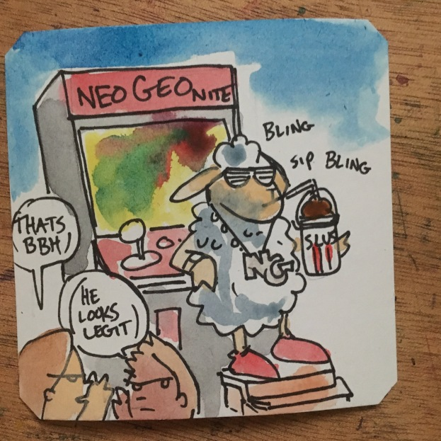 It's Neo Geo arcade night over at BBH's place- lets go! @LordBBH