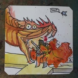 Fire breathing snake fight gone wrong. Lightbringer @Macaw45
