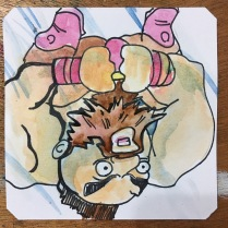 Super deformed Zangief cannonballing into your combos in Super Gem fighter Mini Box @LordBBH