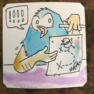 Showing off hand drawn maps online @Macaw45